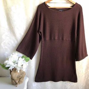Gap Maternity Sweater Tunic Maroon Long Sleeve S